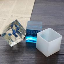 Silicone Pendant DIY Molds Resin Jewelry Making Tools Accessory Moulds Cube Shape