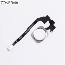 ZONBEMA 5pcs/lot Home button with Flex Cable Ribbon assembly For iPhone 5S Replacement Part(China)