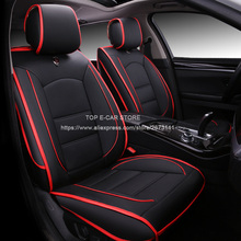 (Only 2 front) Luxury leather car cushion seat covers universal for PEUGEOT 206 207 301 307 car-styling + 3D Breathable Material(China)