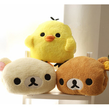Cute Rilakkuma Yellow Chicken Plush Toys Stuffed Soft Cartoon Toy Warming hands in Winter Gifts for Girls Christmas Gifts(China)