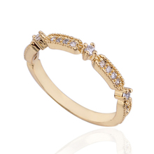 Hot Sale New Arrival with crystal zirconia pinky ring finger ring for women E-shine Jewelry