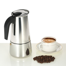 450/300/200/100ml Stainless Steel Espresso Percolator Coffee Maker Moka Pot Stove Top Coffee Maker Pot for Home Office Kitchen