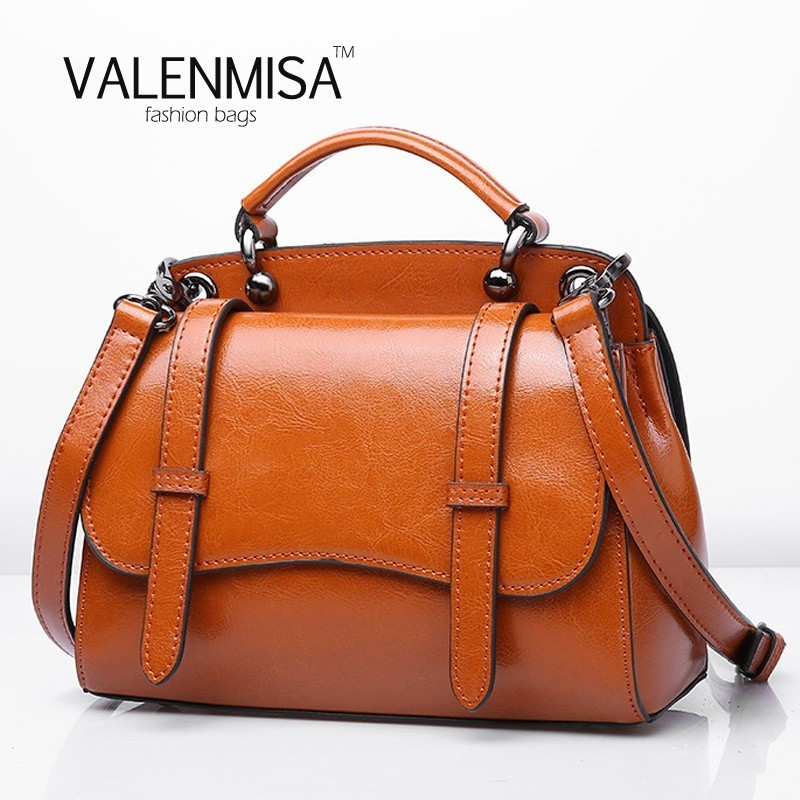 autumn genuine leather small doctor bags for women 2017 fashion lady messenger bag vintage fashion crossbody bags for women<br>