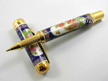 Jinhao Blue And White Porcelain With peony Flower Painting Rollerball Pen