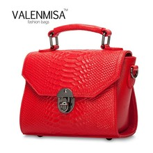 Lady Genuine Leather Doctor Bags Handbags Women Famous Brands Serpentine Snake Skin Crossbody Bags For Women Shoulder Bag 2017(China)