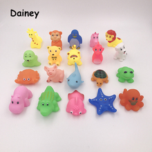 1PCS Bath Toys in the Bathroom Baby Toy for Children Water Spray Animal Soft Rubber Toys Bear Frog Giraffe for Boys Girls MYT02(China)