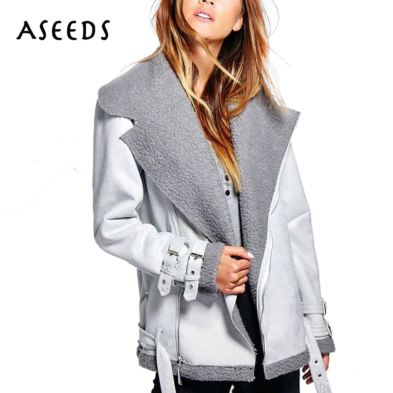 2017 winter leather jacket women coat long sleeve casual zipper regular suede jackets womens clothing lace warm coats