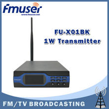 Free Shipping FMUSER FU-X01BK 1W Upgraded 1 watt FM radio broadcaster MP3+Bluetooth+Battery Function+Accessories(China)