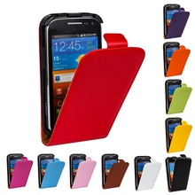 High Quality Vertical Flip Plastic Cover Cow Split Magnetic Genuine Leather Case For Samsung Galaxy Ace 2 Ace2 I8160 Phone Cases