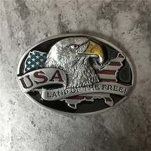 Retail American Flag Metal Belt Buckle American Eagle Buckles Fit 4cm Wide Belt Men,Women Jeans,Clothes accessories(China)