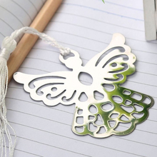 Stainless Steel Angel Eagles Tassel Bookmark School Supplies Page Holder With Gift Box(China)