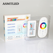 ASMTLED DC12-24V 18A RGB LED Controller Touch Screen 2.4G Wireless RF Remote Controller For SMD 3528 5050 RGB Led Strip light