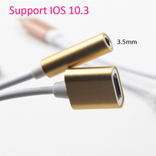 NEW for Iphone 7 IOS 10.3 To 3.5mm Audio Jack Earphone To 8 pin 2 In 1 Charger Adapter 2A Cable Converters for IPhone 8 7 7 Plus(China)