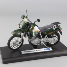 1/18 scale Children's mini metal 02 KAwasaki KLR 650 model dual sport motorcycle moto bike toys racing Diecasts Rally for boys