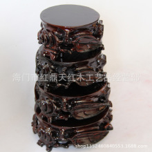 Wholesale jade stone carved mahogany wood ornaments ornamental woody base of low stone base can Trench(China)