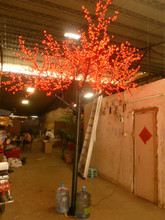 FREE SHIP 10ft 3M height Led Cherry Blossom Tree 1,728 LEDs Garden Landscape Christmas party garden latio Light Outdoor Use
