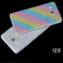 Bling Glitter Shiny Crystal Diamond Full Body Front and Back Wrap Decal Film Sticker Skin For Samsung Galaxy 2016 J310/J510/J710