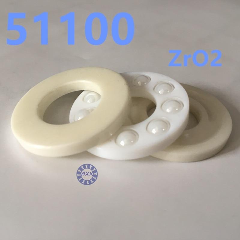 Free shipping 51100 ZrO2 full ceramic thrust ball bearing 8100 10x24x9 mm no magnetic bearing<br>