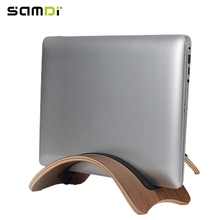 SAMDI High-Quality Natural Wood Lightweight Wooden Laptop Stand Holder Wood Support for MacBook Air iPad Notebook Computer