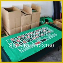 ZB-016 Non-woven fabric Texas Holdem Table Cloth, Roulette green felt with one zero(China)