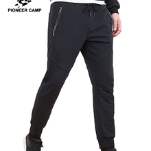 Pioneer camp new autumn sweatpants men clothing casual zipper pockets trousers cotton