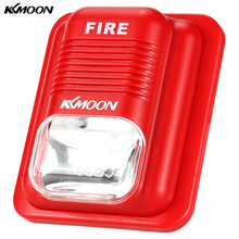 KKmoon 110dB Loud Fire Sensor Alarm Siren Sound & Strobe Alert 6 Leds for Home Office Hotel Restaurant Security System