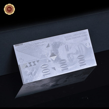 Made in China Silver Plated Banknote Hot Selling 100 Swiss Francs Switzerland Banknote For  Special Gifts