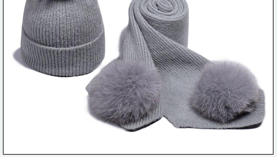 قبعة ووشاح للفتيات 21