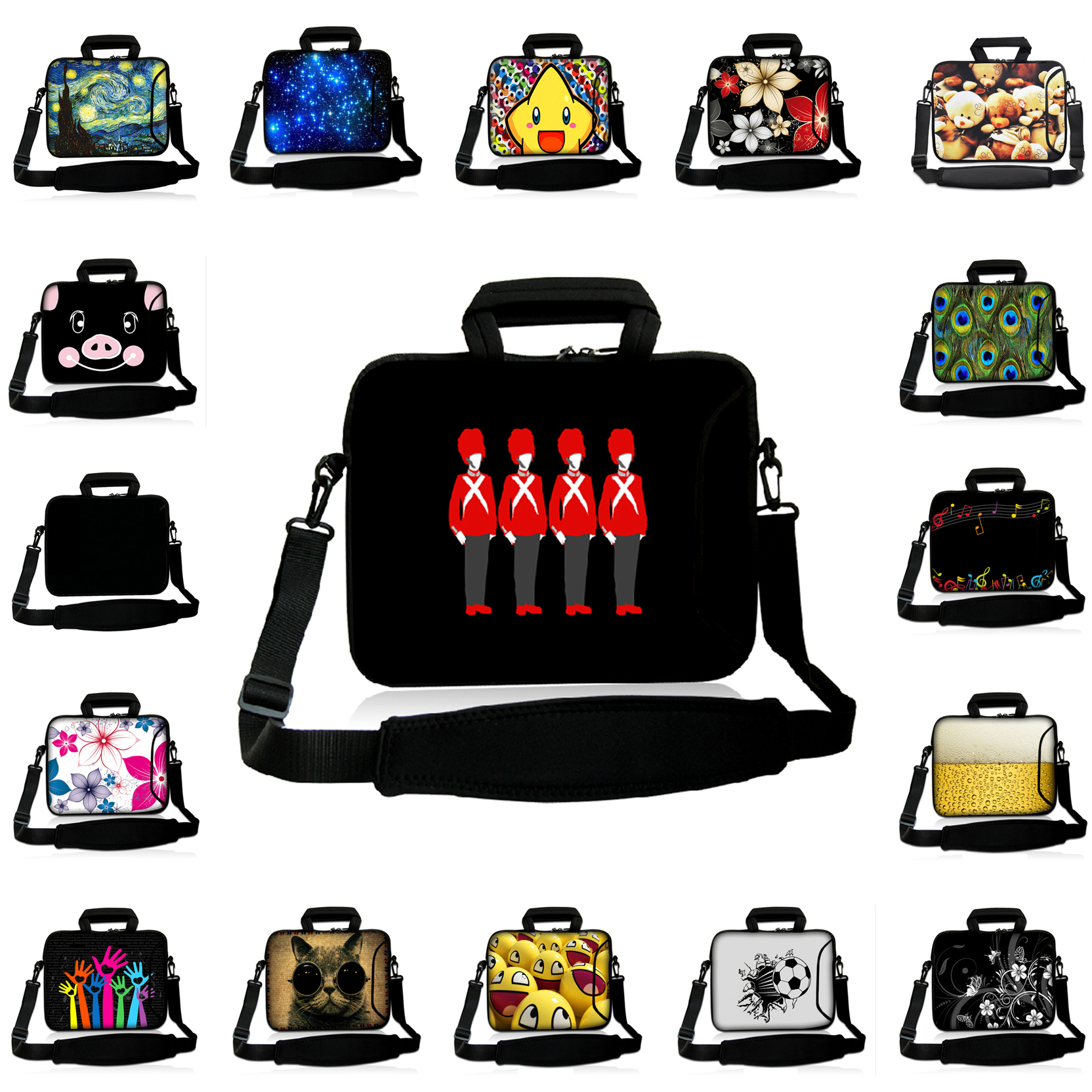 14.4 14.2 inch Neoprene Fashion Laptop Notebook PC Bags 14 14.1 inch Shoulder Messenger Computer Bags For Toshiba Lenovo Acer HP<br><br>Aliexpress