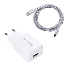 Good 2A EU Plug Wall Charger + 1M nylon Micro USB Cable For Samsung Galaxy S4 S3 j3 j5 j7 A3 for xiaomi redmi note 3 4 4a 4x
