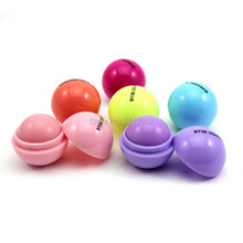 Round Ball Smooth lip balm Fruit Flavor Lip Care Smacker Organic Natural Plant Moisturizing Lipstick Makeup Set(China)