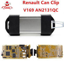 Latest V169 For Renault Can Clip Full Chip CYPRESS AN2131QC OBDII Auto Diagnostic Interface CAN Clip For Renault Code Scanner(China)