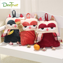 Flannel Air Conditioning Cartoon Animal Owl Pillow with Blanket 2 in 1 Children Toy Home Textile Decoration for Sofa kids Gift