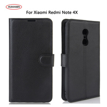 HUDOSSEN For Xiaomi Redmi Note 4 Pro Prime Case Leather 5.5 Mobile Phone Accessories Phone Bags Cases For Xiaomi Redmi Note 4X(China)