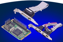 2 Port Serial RS232 + 1 Port Parallel Mini PCIe Card Chipset for Moschip MCS9901(China)