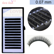 False eyelashes 0.07mm russian volume eyelash extensions mixed different lengths 1 tray/lot false eyelashes individual eyelash(China)