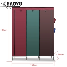 Cloth wardrobe closet for clothes 25 mm steel nonwoven saving cabinet A-148