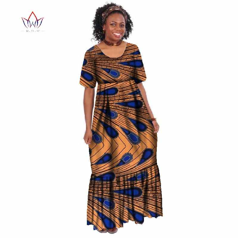 New Summer 2018 Robe Africaine Femme African Clothing For Women Bazin Rich  Plus Size Long Dress 19788c603dac