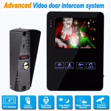4 Inch Monitor LCD Color Video Record Door Phone Video Intercom Doorbell Intercom System Night Vision 800TVL for Home F1367A