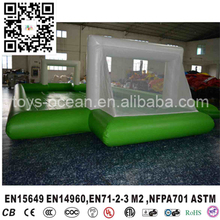 inflatable soap soccer/football court/field,Outdoor sport game new inflatable soccer field for sale