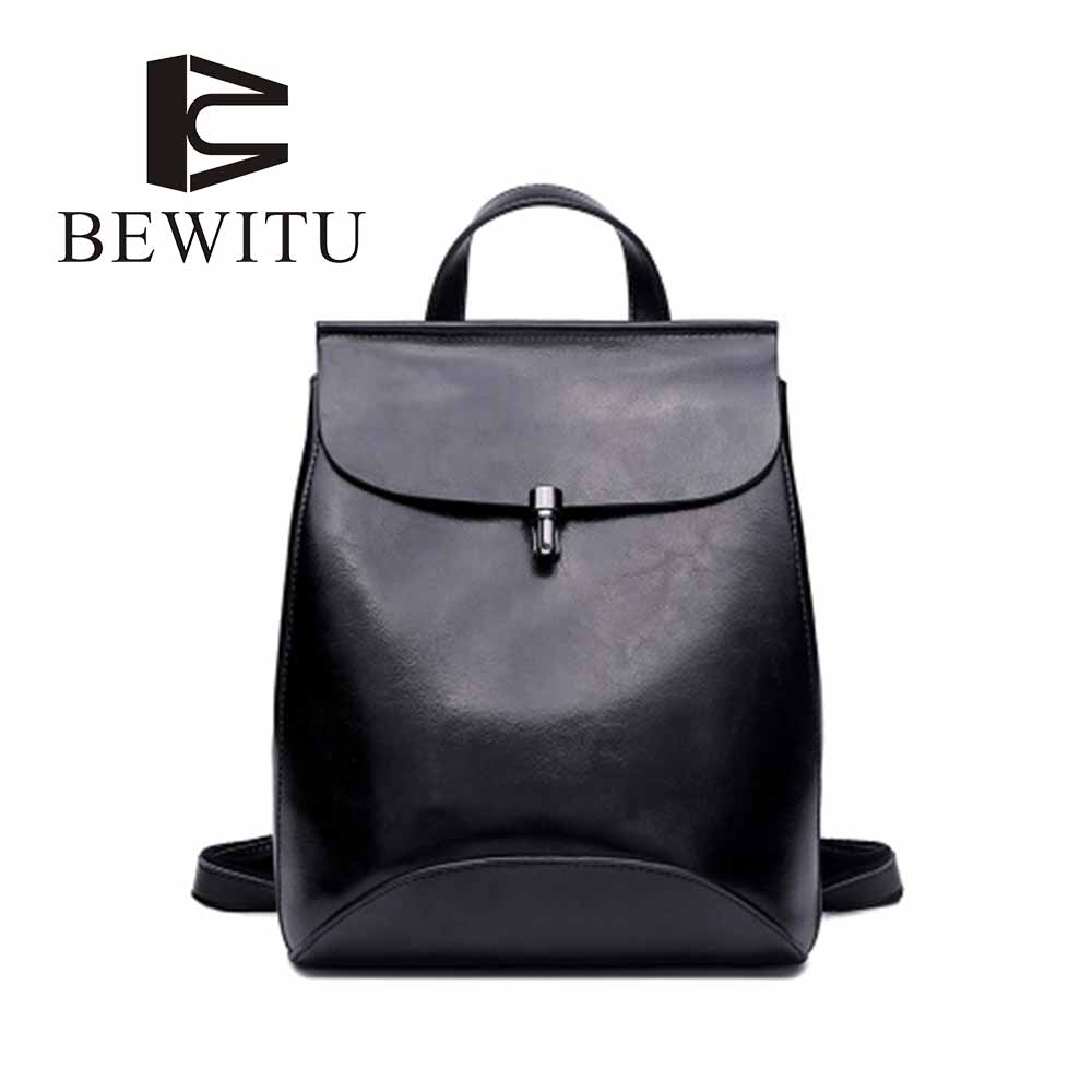 New Leather Retro Shoulder Bag Ladies backpack Zipper Large Capacity Casual Backpack Simple Retro Bright <br>