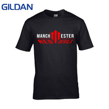 United Kingdom Manchester Is Red Letters 2017 Print Print S-4xl T-Shirt Men T-Shirt Top Tees