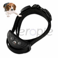 Heropie PD258 Pet Dog Training Collar Adjustable With 7 Levels Anti Bark Dog Collar Electric Shock Dog Trainer(China)