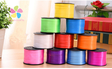 Lucia Craft 5mm multi color option plastic ribbon balloon belt floral gift packaging belt 1roll/lot 100y/roll 078015001(China)