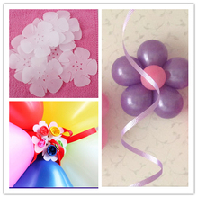 New 10pcs/lots Balloon Seal Clip Multi Balloon Sticks Balloon Accessories Plum Flower Clip Practical Balloon Sealing Clamp
