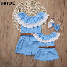 YATFIML mama and daughter matching family outfits mother daughter dresses matching jumpsuits mom and me clothes Children's gift(China)