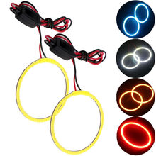 COB Angel Eyes 2Pieces(1pair) Auto Halo Rings 70MM Super Bright 72 SMD Angel Eye Car Headlight Motorcycle 12V 24V With Resistor
