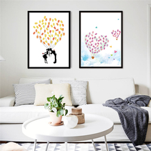Hot Nordic Hand Drew Canvas Painting Paper With No Frame DIY Art Print Finger Graffiti Interesting Wall Posters Bedroom Ornament