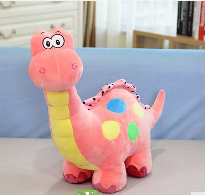 cute new plush dinosaur toy cartoon spots pink dinosaurs doll gift about 50cm<br>
