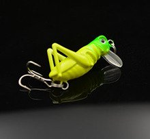artificial fishing lures locust 3g/4cm Insect Bait cricket Lure Bait Artificial Bass 5PCS